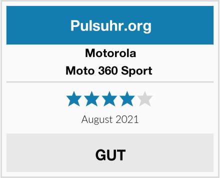 Motorola Moto 360 Sport  Test