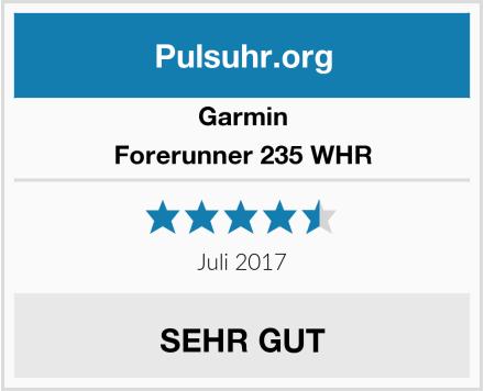 Garmin Forerunner 235 WHR Test