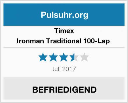 Timex Ironman Traditional 100-Lap  Test