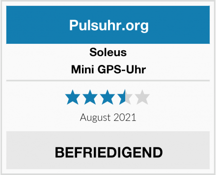 Soleus Mini GPS-Uhr Test
