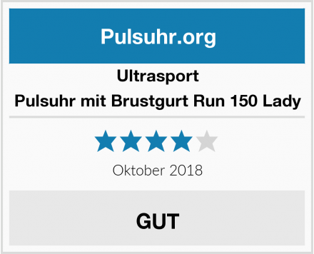 Ultrasport Pulsuhr mit Brustgurt Run 150 Lady Test