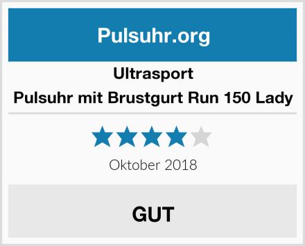 Ultrasport Pulsuhr mit Brustgurt Run 150 Lady Test