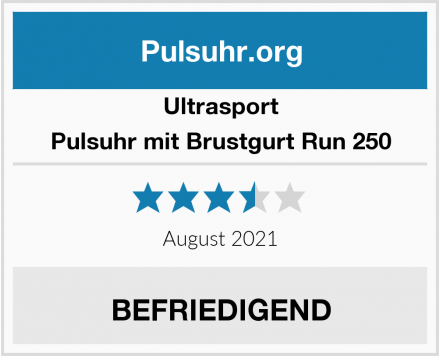 Ultrasport Pulsuhr mit Brustgurt Run 250 Test