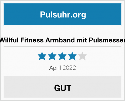 no name Willful Fitness Armband mit Pulsmesser Test