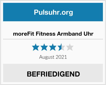 moreFit Fitness Armband Uhr Test