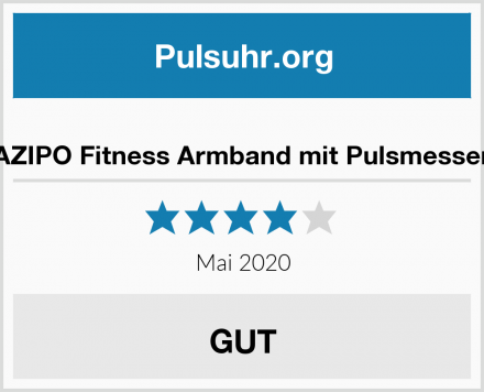 AZIPO Fitness Armband mit Pulsmesser Test