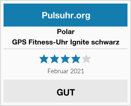 Polar GPS Fitness-Uhr Ignite schwarz Test