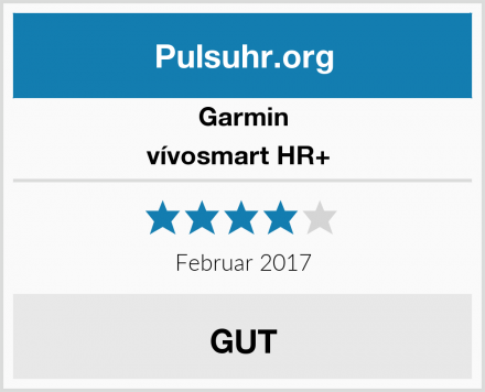 Garmin vívosmart HR+  Test